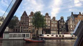 A view of the houses from my canal tour this summer
