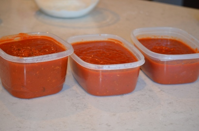 The sauce I had left after the 4 meals!