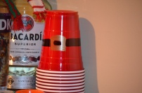 Fun idea I saw on Pinterest to spruce-up red solo cups!