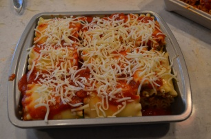 top with marinara and mozzarella cheese, then you are done!