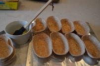brush butter all over them then bake until crispy