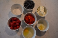 The ingredients - note the vanilla is missing, so mine were a little more tart than they should have been but still good!
